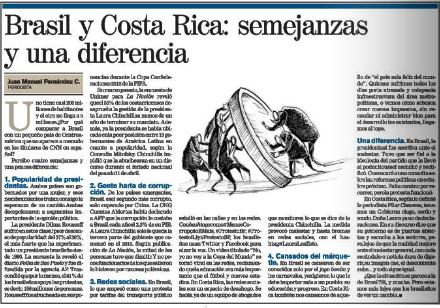 Brasil y Costa Rica 13-07-13