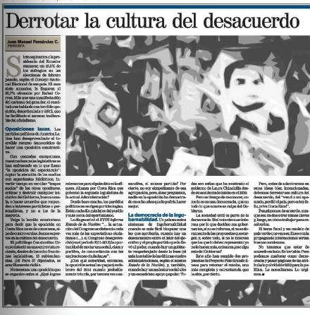 Derrotar cultura del desacuerdo 20-08-13