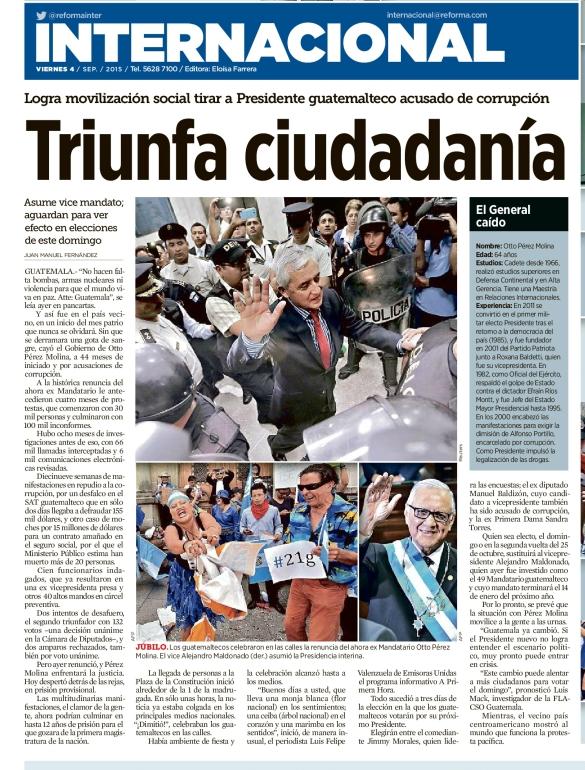 Triunfa ciudadanía guatemalteca