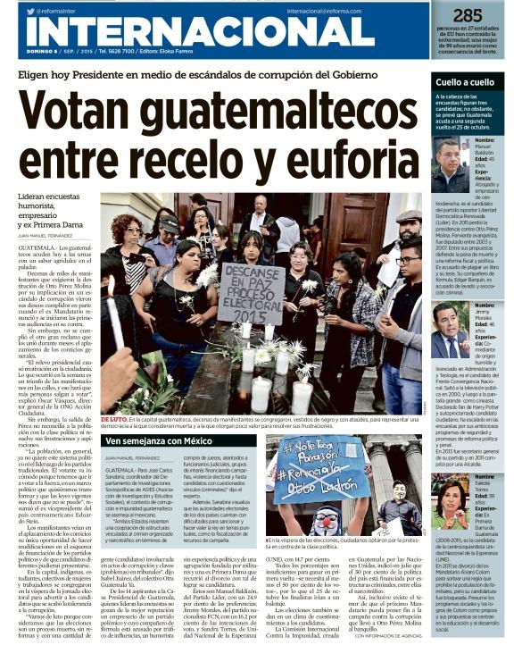 Votan guatemaltecos entre recelo y euforia